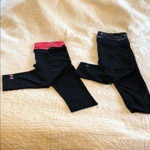 Two pairs of under Armour cropped leggings!